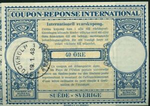 SWEDEN London Type XIV 40 ore  - International Reply Coupon IRC
