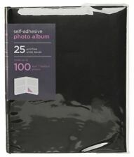 WHSmith Medium Black Photo Album General 25 Self Adhesive Leaves Case Bound