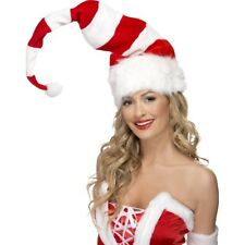 Large Wired Santa Hat Mens Ladis Father Christmas Fancy Accessory