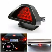 Universal Car Triangle 12 LED Rear Laser Tail Brake DRL Stop Light Auto Fog Lamp