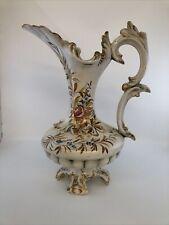 Grand Aiguiere FAIENCE CÉRAMIQUE ITALIE BASSANO VINTAGE ANNÉE 60  Vase