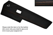 ORANGE STITCH 2X FRONT DOOR CARD TRIM SKIN COVERS FITS VW TYPE 3 T3 EARLY