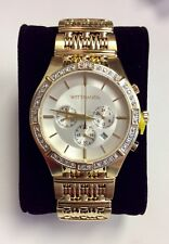 WITTNAUER Laureate Gold Tone Stainless Steel 24 Diamond Chronograph WATCH WN3079
