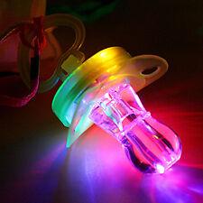 LED Flashing Nipple Glow Sticks Bar Cool Pacifier Whistle Party Fun Toy