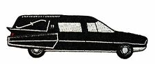 Black Cadillac Hearse Funeral Coach Coffin Car Embroidered IronOn Applique Patch
