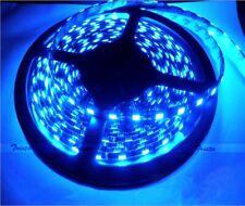 12V Waterproof Blue 5M 300 LEDs 5050 SMD LED Flexible Strip Light Car Truck New
