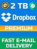 Dropbox Premium 2TB -  LifeTime Account - Fast Delivery 5 minutes ⚡