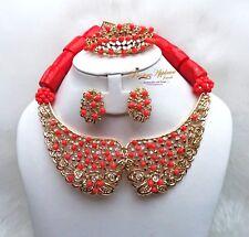 PrestigeApplause Beautiful Customised Coral Bridal Wedding Beads Jewellery Set