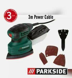 Parkside 160W Detail Electric Sander + Sandpaper & Collection Box PMS 160 A1 NEW
