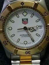Tag Heuer Professional  2000 - WE1122-R 18k gold & ss Men's Two Tone Watch w/Box