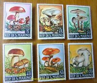 EBS San Marino 1967 - Beautiful Mushrooms set - Funghi 743-748 MNH**