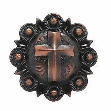 "Cross Berry Concho Copper All Metal 1"" 1736-10"