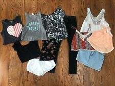 Junior/Woman's 11 Mixed Lot Clothes Sz XS/S/M Skirt,Jeans(0),Shorts,Tops,Blouses