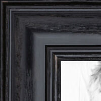 "ArtToFrames Custom Picture Poster Frame Black Stain on Oak 1.25"" Wide Wood"