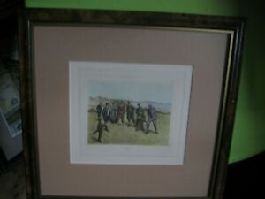 Print of Figures Playing Golf