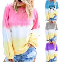 Funny Long Sleeve Womens Tops Soul Blouse Casual Print Hippie T-shirt Sweatshirt