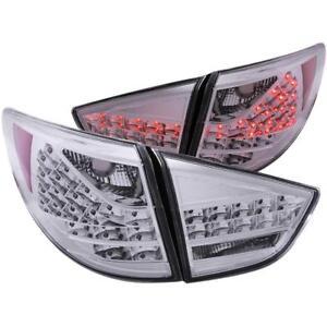 ANZO LED Taillights Chrome 4pc For 2010-2013 HYUNDAI TUCSON