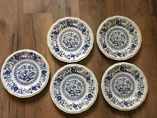 "Kensington Ironstone Staffordshire Coventry Blue Onion 6"" Bread & Butter Plates"