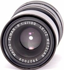 Macro-ELMAR-R 1:4/100mm Lente 3-Cam + Adaptador de macro LEITZ 1:1 LEICA Leica R9 R7
