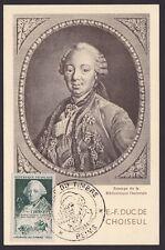 France 1949 stamp CHOISEUL Yvert# 828 on FDC Maximum card..................X1109