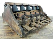 Antica tastiera del CAMPANARO d'epoca '800 900 campana in bronzo legno STRUMENTO
