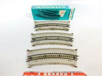 CD808-0,5# 3x Märklin H0 7167 Rampenstück (M-Gleis) für Brücke, NEUW+1x OVP