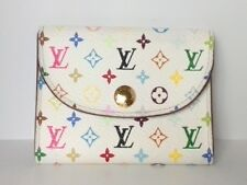 Auth LOUIS VUITTON Enveloppe Carte de Visit M66559 Leysin Monogram Multicolore