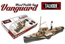 """Detailed, New Wooden Model Ship Kit by Disar: the """"Wooden Paddle Tug Vanguard"""""""