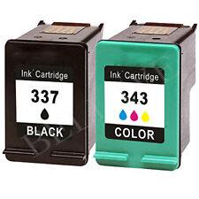 2 CARTUCCE PER HP 337 HP 343 DeskJet 5940 6940 C9364E Photosmart c4180 d5160 BL