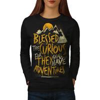 Wellcoda Take Adventures Womens Long Sleeve T-shirt, Nature Casual Design