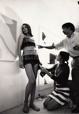 Emmanuelle Khanh et le Designer Quasar Khanh, The Stripper Dress  circa 1966