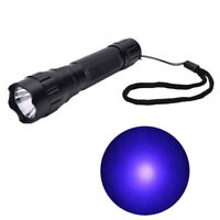 UV WF-501B LED 365NM Ultra Violet Blacklight Flashlight Torch 18650 Light Lamp S