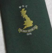 VINTAGE CLUB ASSOCIAZIONE SPORTIVA Tie 1970s The Great Briton 1974 WRC Rugby Retrò