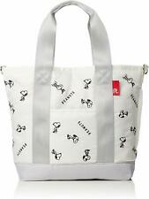 NEW PEANUTS SNOOPY Mini Tote Bag Shoulder Purse Handbag Pouch Ivory F/S Japan