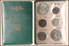 """Australia - B.P. Green Souvenir Wallet """"Decimal Issue 6 Coins"""""""