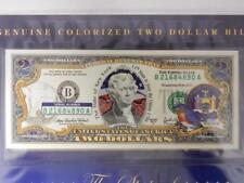 Colorized State Bird $2 Bill, Two Dollars, NEW YORK Bluebird, UNC. #D
