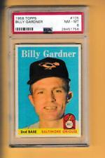 1958 Topps #105 Billy Gardner Orioles PSA 8 NM-MT UER