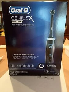 Oral-B Genius X Limited, Rechargeable Electric Toothbrush - Midnight Black