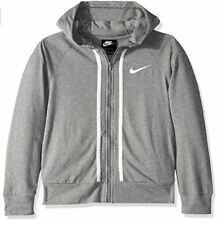 Nike New Girls Size Large Gray Full Zip Hoodie Sweatshirt aq9051-091 $40