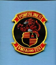 VMFA(AW)-224 BENGALS POWERLINES USMC MARINE CORPS Fighter Attack Squadron Patch