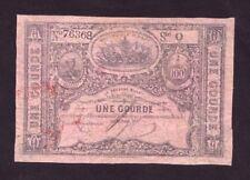 Haiti 1 Gourde L.1827 (1859-67) P-41  VG+