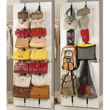 2-pack: Over the Door Hanging Purse Rack - Hangs Multiple Purses and Other Items