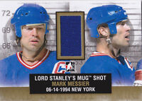 13-14 ITG Mark Messier /10 Jersey GOLD Lord Stanley's Mug Shot NY Rangers 2013