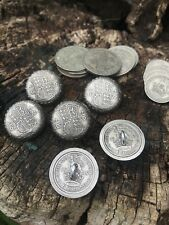 Old English Half Crown Coin Buttons