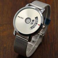 Turntable Dial PAIDU Net Mesh Steel Band Wrist Fashion Watch Men Women Gift AU