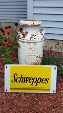Vintage Schweppes Ginger Ale Metal Advertsing Sign - Rare Soda Piece! Cool!