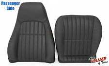 2000-2002 Chevy Camaro SS RS Z28 -PASSENGER COMPLETE Leather Seat Covers Black