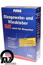 Pufas Glasgewebekleber und Vlieskleber GK 1kg Neuputz Kleister Gewebekleber