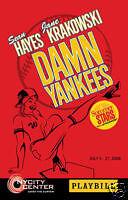 Damn Yankees Broadway Playbill Starring Sean Hayes (Will & Grace), Jane Krakowsk
