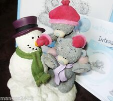 VERY RARE BOXED ME TO YOU FIGURINE CHRISTMAS WINTER FUN BUILDING A SNOWMAN